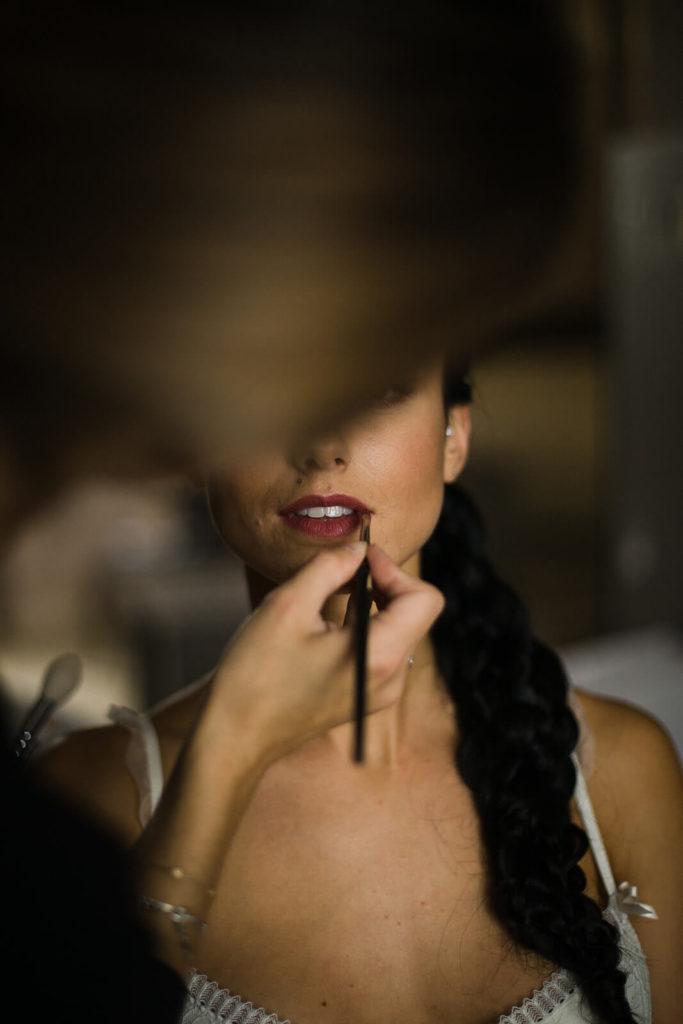 Maquillage pour le mariage de Chloé et Charles